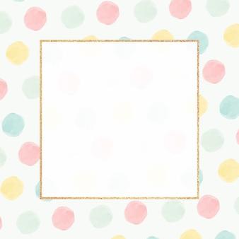 Modèle sans couture de cadre doré coloré blanc