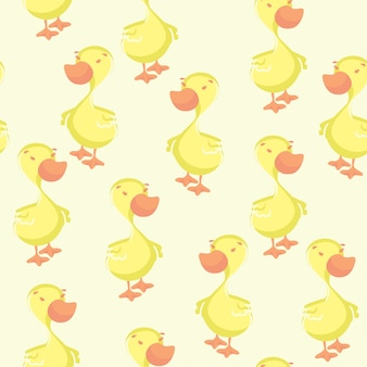 Modèle sans couture de canard