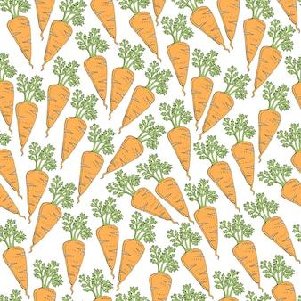 Modèle sans couture avec carotte de dessin animé