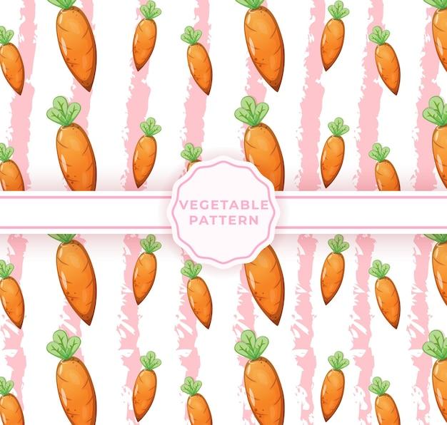 Modèle sans couture de carotte mignon. motif végétal mignon