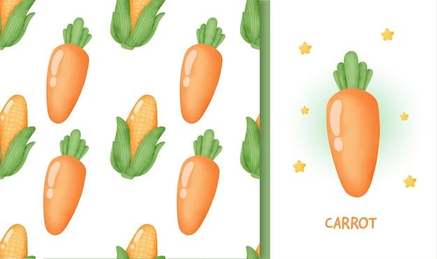 Modèle sans couture avec carotte.