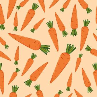 Modèle sans couture de carotte