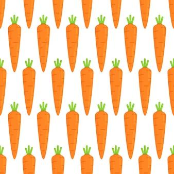 Modèle sans couture de carottes du potager