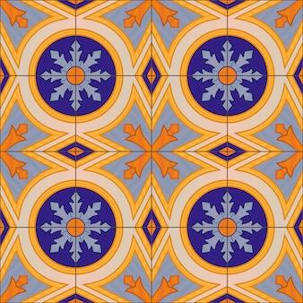 Modèle sans couture avec des carreaux azulejo portugais.