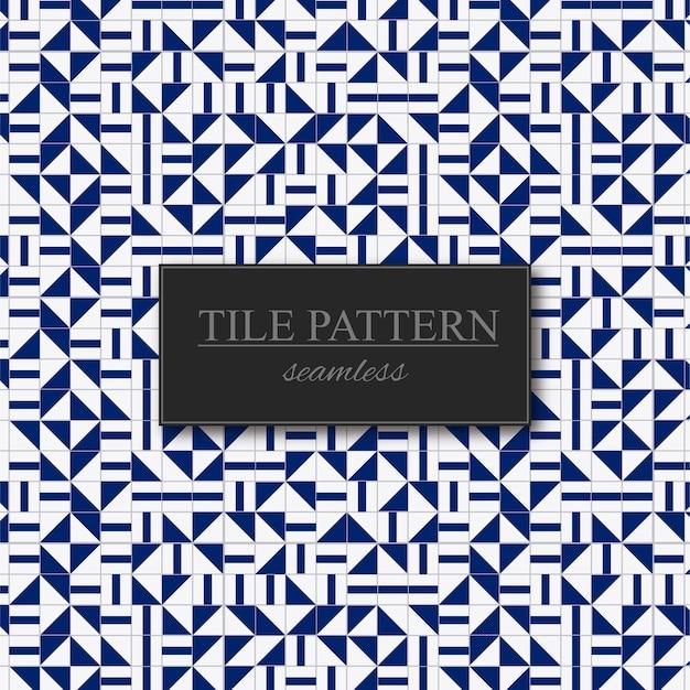 Modèle sans couture de carreaux bleu et blanc