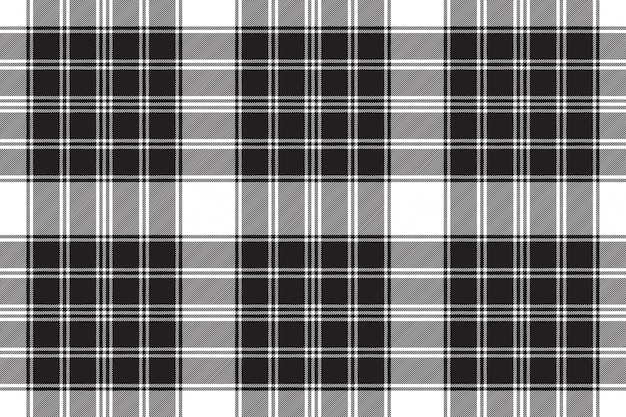 Modèle sans couture de carreaux classique noir blanc