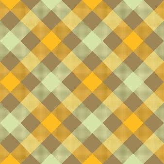 Modèle sans couture de carreaux damier diagonale beige jaune