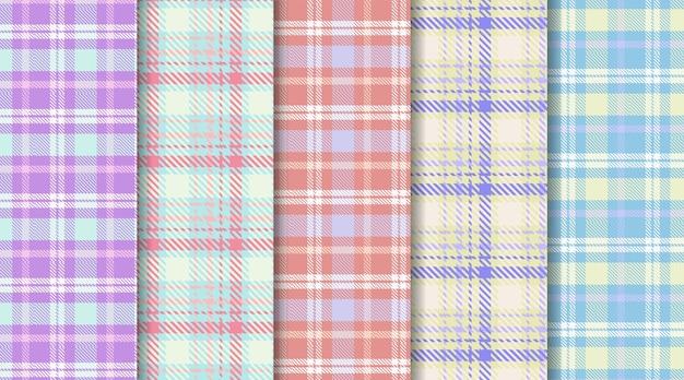Modèle sans couture à carreaux écossais tartan