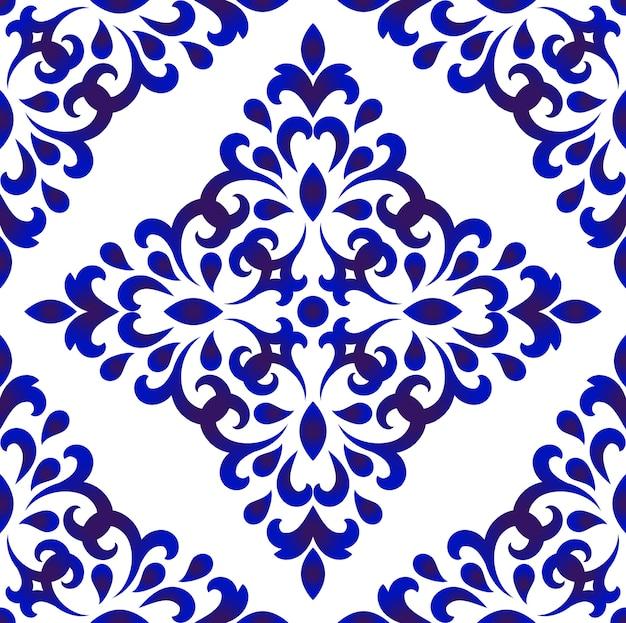 Modèle sans couture de carreaux de fleurs