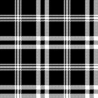 Modèle sans couture de carreaux noir blanc simple
