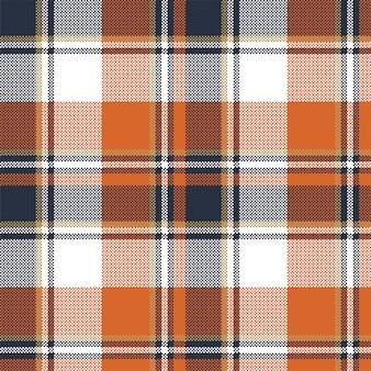 Modèle sans couture à carreaux orange check. illustration vectorielle.