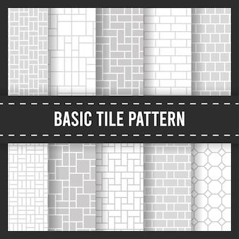 Modèle sans couture de carreaux de pavé de plancher de brique