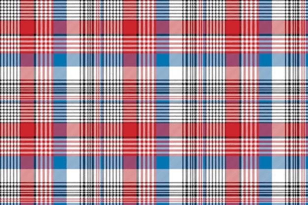 Modèle sans couture à carreaux de texture tissu bleu rouge