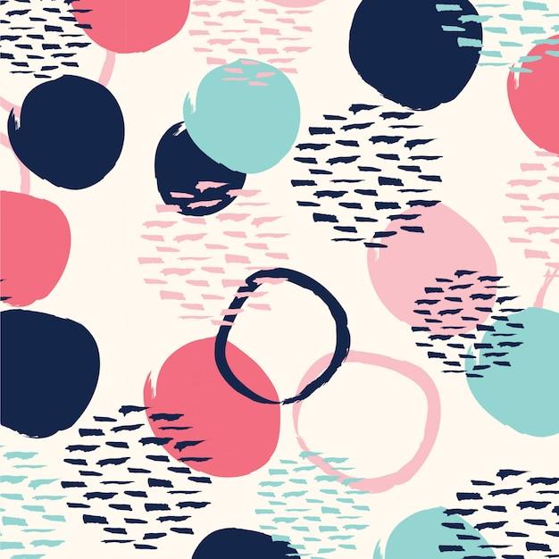 Modèle sans couture de cercle abstrait.