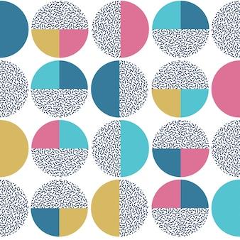 Modèle sans couture de cercle abstrait