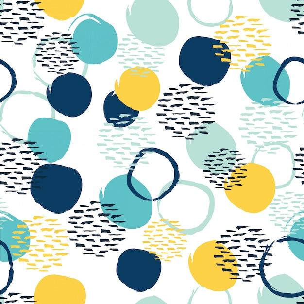 Modèle sans couture cercle abstrait