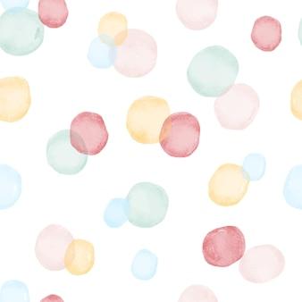 Modèle sans couture de cercles aquarelles multicolores.