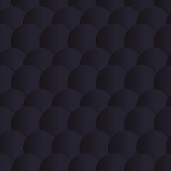 Modèle sans couture de cercles de papier noir