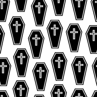 Modèle sans couture de cercueils