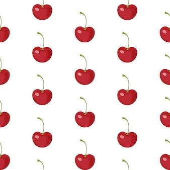 Modèle sans couture de cerise berry
