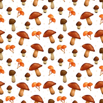 Modèle sans couture de champignons magnifiques