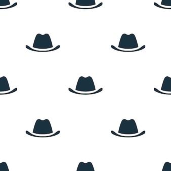 Modèle sans couture de chapeau de cowboy. fond de concept de chapeau de cowboy créatif. texture d'icône simple de chapeau de cowboy de la collection d'accessoires
