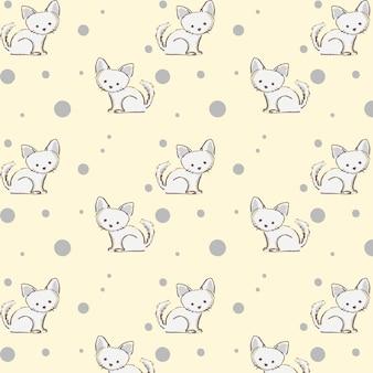 Modèle sans couture avec des chats