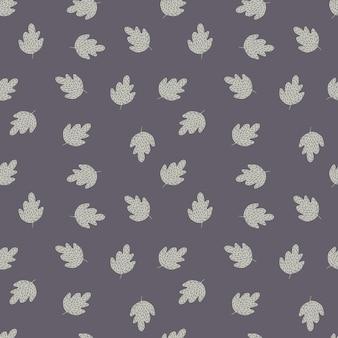 Modèle sans couture de chêne doodle sur fond gris. fond d'écran nature simple. pour la conception de tissus, l'impression textile, l'emballage, la couverture. illustration vectorielle.