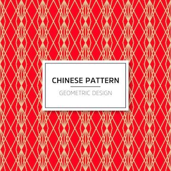Modèle sans couture chinois. ornement de fond de vecteur rouge. décoration avec menton traditionnel