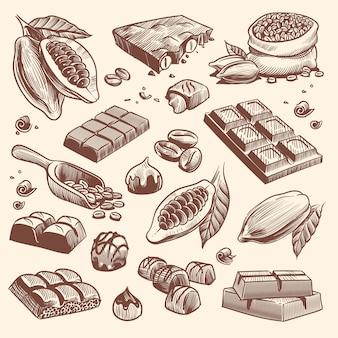 Modèle sans couture de chocolat