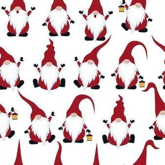 Modèle sans couture de chritmas avec des gnomes