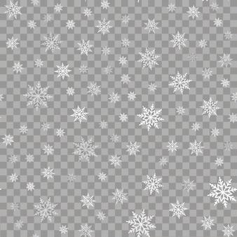 Modèle sans couture avec des chutes de neige ou des flocons de neige. vecteur