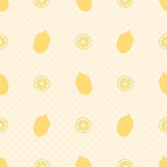 Modèle sans couture de citron frais