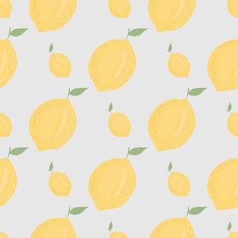 Modèle sans couture de citron jaune