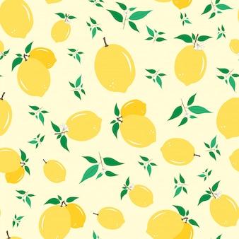 Modèle sans couture de citron