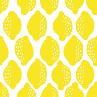 Modèle sans couture de citrons frais. toile de fond superposée dessinée à la main. illustration vectorielle de papier peint coloré. modèle sans couture avec collection d'agrumes pour impression, tissu