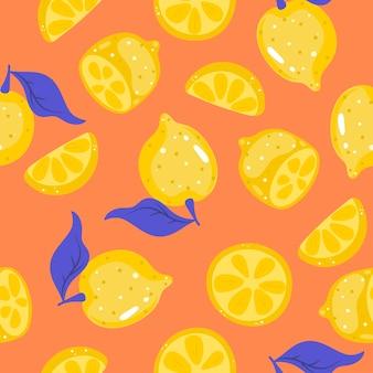 Modèle sans couture avec des citrons