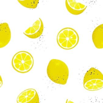 Modèle sans couture de citrons.