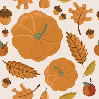 Modèle sans couture avec citrouille d'automne.