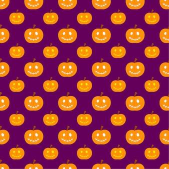 Modèle sans couture de citrouille halloween