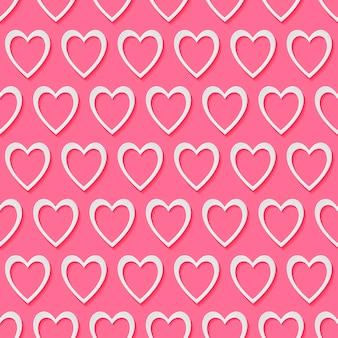 Modèle sans couture clé et notes en forme de coeur