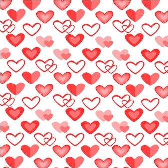 Modèle sans couture de coeur coloré pour la saint valentin