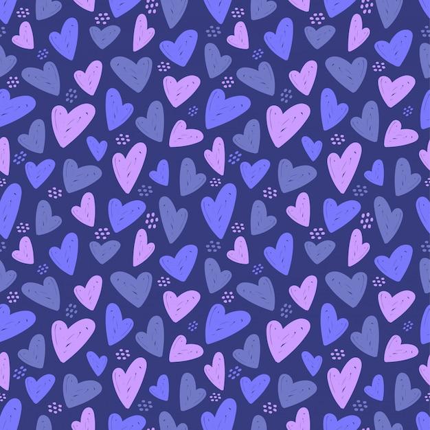Modèle sans couture de coeur. illustration d'amour de vecteur.