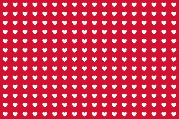 Modèle sans couture de coeur origami artisanat papier rouge.