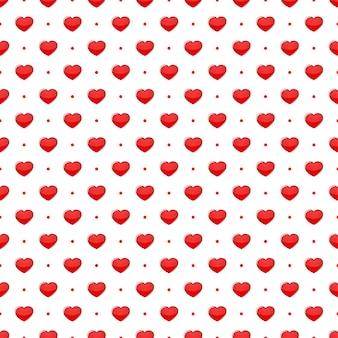 Modèle sans couture de coeurs rouges
