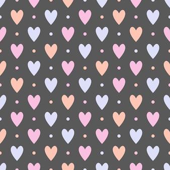 Modèle sans couture avec des coeurs.