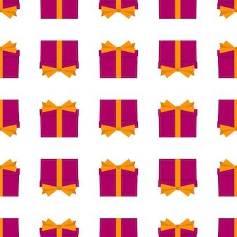 Modèle sans couture avec des coffrets cadeaux. illustration vectorielle.