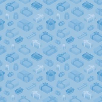 Modèle sans couture avec les coffrets cadeaux isométriques