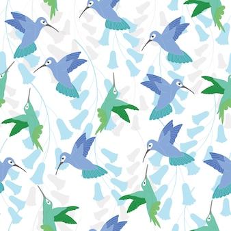 Modèle sans couture de colibri