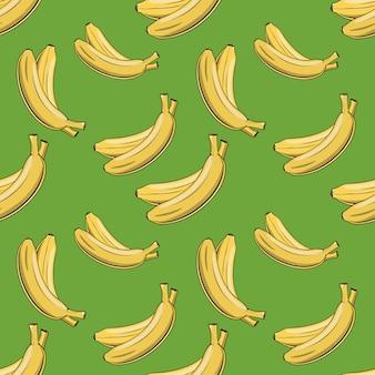 Modèle sans couture coloré avec des bananes dans un style vintage